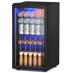 120 Can Beverage Mini Refrigerator w/ Glass Door