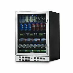 Newair - 177-can Beverage Cooler - Stainless Steel