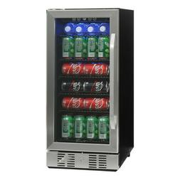 Newair - 96-can Beverage Cooler - Stainless Steel