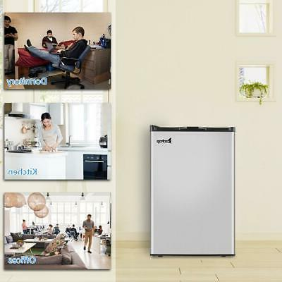 ZOKOP Compact Upright Small Fridge Stainless Steel