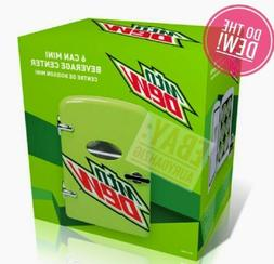Mountain Dew Mini Fridge 6 Can Green Pop Soda Beverage Cente